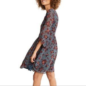 Madewell Moonblossom Ruffle-Sleeve Dress 6